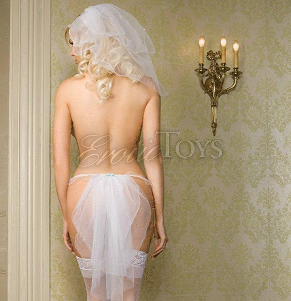 Разбудила стринги невесты бритые оральный