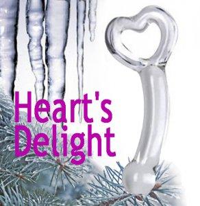 Стеклянный фаллоимитатор Heart's Delight для точки G