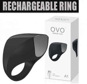 Вибронасадка на пенис - RECHARGEABLE RING BLACK/CHROME