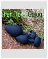 НОВИНКА! Дизайнерская анальная пробка с вибрацией Fun Toys Gplug