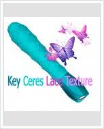 Эксклюзивный вибратор Key Ceres Lace Texture