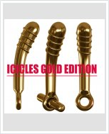 Новинка! Стеклянный секс-вибратор Icicles Gold Edition
