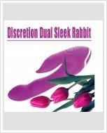 Секс-вибратор Discretion Dual Sleek Rabbit Pink Minx