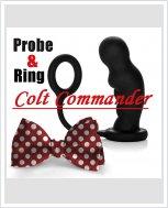 Colt Commander Probe & Ring - Массажер простаты с эрекционным кольцом.