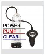 Автоматическая вакуумная помпа Power Pump Clear для увеличения пениса.