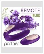 Универсальный вибратор для пар Partner Plus Remote