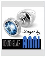 Анальная пробка со стразом Diogol ANNI round silver