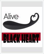 Анальный стимулятор Alive Black Heart