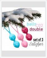 Satisfyer balls C02 double – набор вагинальных шариков.