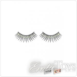 Реснички Black-Light Green Rhinestone Eyelashes