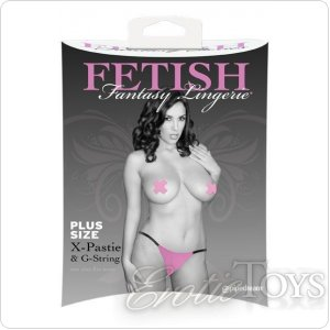 X-Pastie and G-String Pink XL