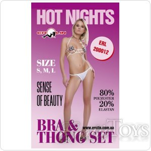Комплект Hot Nights White, L