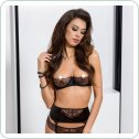BRIDA SET WITH OPEN BRA black XXL/XXXL - Passion